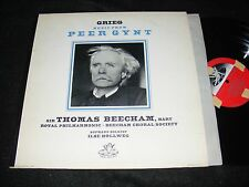 GRIEG Music From PEER GYNT LP Sir Thomas Beecham ANGEL 1950s Issue Red Labels