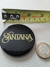 Vintage Santana 1970s 55mm Metal Rock Pop Band Bin Lid Music Pin Badge Pinback
