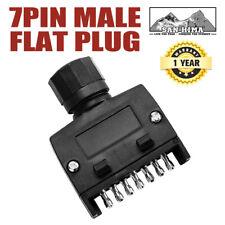 7 Pin Flat Male Plug Adaptor Connector Trailer