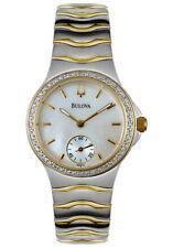 Bulova Mujer Diamante Reloj de Dos Tonos 98W12