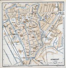 Utrecht 1901 kl. orig. plattegrond + frans reisgids (7 p.) Nieuweroord Vredenbg.