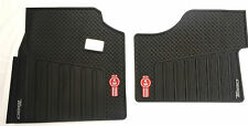 Kenworth T880 OEM Black Rubber Floor Mats W/Logo For 2014-2018 - 2PC All-Weather