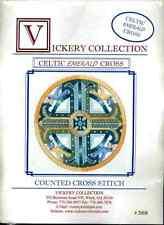Vickery Collection Celtic Emerald Cross - Cross Stitch Pattern