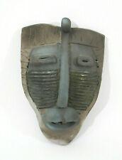Sammie Nicely TN 1992 Folk Art Clay Face Mask Sculpture Afroamerican Appalachian