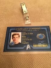 Star Trek ID Badge-Starfleet Command CAPTAIN JAMES KIRK
