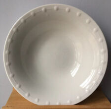 "Oneida Katherine Serving Bowl Dining White Vegetable Dots Embossed 9"" Rare"
