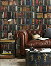 Designer Effect Bookcase Library Books Shelves Wallpaper