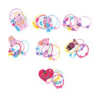 50pcs bébé enfants élastiques bandes de cheveux porte-queue attaches de corde
