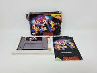 Tetris 2 (Super Nintendo Entertainment System SNES 1994) Complete CIB Manual Box