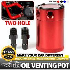 Universal 2-Port Oil Catch/Can/Tank/Reservoir Air-Oil Separator Racing Baffled