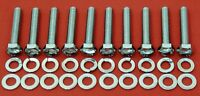 FORD 6.8L V10 1 EXHAUST MANIFOLD HEADER BOLTS KIT STAINLESS STEEL HEX SUPER DUTY
