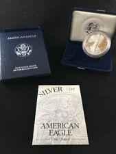 1994 US Silver Proof American 1oz Eagle w/box, case, & COA