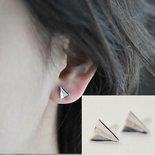 Vogue Origami Folding Aircraft Plane 925 Silver Plated All_match Stud Earrings