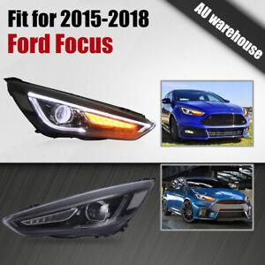 VLAND Headlights Front Lamp LED Indicators For 2015-2018 Ford Focus Sedan
