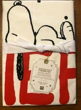 NWT Pottery Barn Teen Peanuts Good Grief Pillowcases Standard Size 100% Cotton