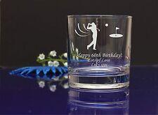 Personalised GOLF IMAGE engraved whiskey glass GRANDADS Birthday,Christmas gift6