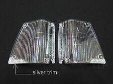 CLEAR FRONT CORNER INDICATOR LENSES PAIR LH RH FOR TOYOTA COROLLA KE70 DX FIT