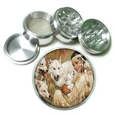 Indian Native American Aluminum Grinder D8 63mm 4 Piece Tribes Tent Wild West