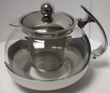 Stainless Steel Glass TEA POT --Teapot w. Stainless steel Strainer filter 700ML
