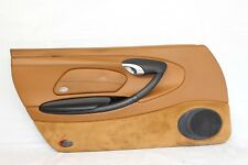 2002 PORSCHE BOXSTER 986 #103 LEFT LH DOOR PANEL ASSEMBLY NATURAL LEATHER BROWN