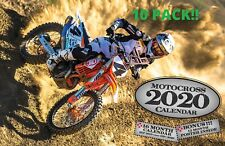 10 PACK 2020 MOTOCROSS DELUXE WALL CALENDAR supercross dirt bike racing