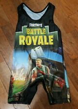 Fortnite Wrestling Singlet Size As Adult Small Battle Royale Video Game Sports
