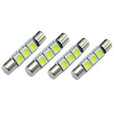 4x HID White 3-SMD 31mm 6641 Fuse LED Bulbs Vanity Mirror Light Sun Visor Bulb