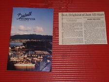 Vintage Booklet & Article Bushnell Prompter Newport Jazz Festival All Stars 1984