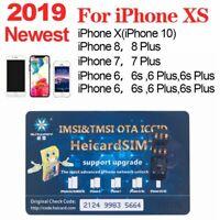 2019 HEICARD UNLOCK Chip for iPhone X XS 8 7 Plus Unlocking Sim Card New ICCID