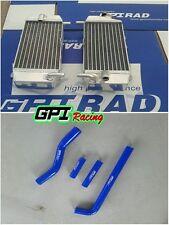 YAMAHA ALUMINUM RADIATOR&BLUE HOSE YZ250F 2002-2005 WR250F 2001-2006 2003 2004
