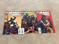 PLANET OF THE APES HUMAN WAR #1,2,3 OF 3 LOT OF 3 NM COMIC NM 2001 DARK HORSE