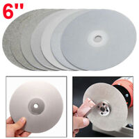 "150mm 6"" Diamond Coated Flat Lap Wheel Grinding Disc Jewelry Polish 80~3000 Grit"