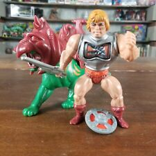 BATTLE ARMOR HE-MAN & BATTLE CAT - HE-MAN MOTU HEROIC WARRIORS WAVE 3 - MATTEL