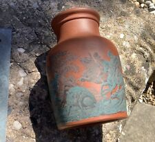 "Pratt Ware Antique Terracotta Jar - Early 1800's Hunting Scene 4"""