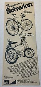 1972 SCHWINN MPC MODELS ad ~ 10-Speed Continental, 5-Speed Sting-Ray