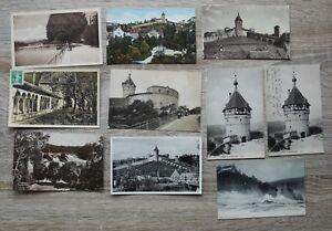 Posten 10 AK Schweiz 1905-40 Schaffhausen Ortsansicht Häuser Gebäude Munoth ++