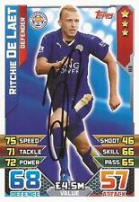 RITCHIE DE LAET SIGNED LEICESTER 2015/2016 MATCH ATTAX TRADING CARD+COA