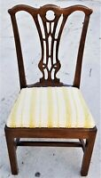 Antique Chippendale Carved Mahogany Dining Desk Accent Vanity Chair
