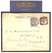 MS2710 1896 GB STO PENNY PINK *Chemical Society*Stationery Squared Circle CANADA