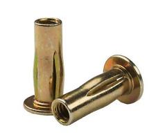 Steel Pre Bulbed Cross Nuts Plus Nuts Threaded Inserts Zinc Trivalent