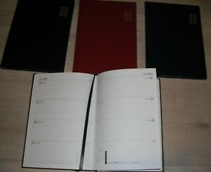 2022 A5 DIARY'S WEEK TO VIEW, Hard Back, Soft or Padded Gold Corners; 8 Designs