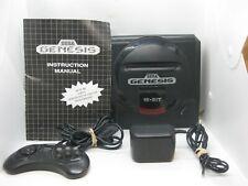 Sega Genesis 16 Bit Console 1601, 6 Button Controller, Power, Original Manual