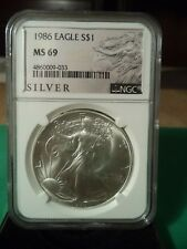 1986 Silver American Eagle (NGC MS-69)