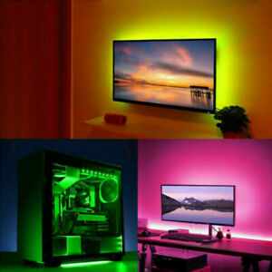 DIY Striplight TV PC Dream Screen USB LED Strip Tape Computer PC Backlight 5M UK