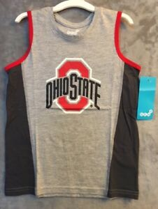 NEW NCAA Ohio State Buckeyes Tank Top T-Shirt Boys Size Medium 5-6 Years