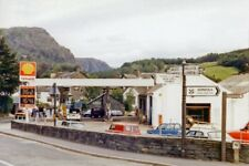 PHOTO  CUMBRIA PETROL  STATION AT CONISTON 1986