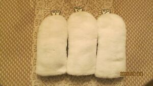 """Used Ping 1,3,5 Woods Plush Barrel Style White Headcovers 9 1/2"""" Long"""