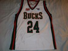 Richard Jefferson 24 Milwaukee Bucks NBA Park Antony White Jersey Men's Medium