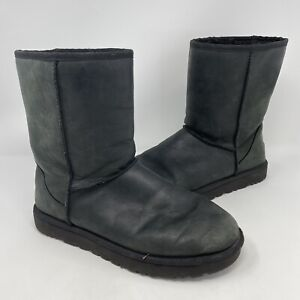 UGG Classic Short Pull On Wool Leather Boots Womens Size 10 US 1016559