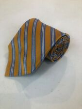 Brooks Brothers Men's Yellow Stripe Silk Neck Tie $98